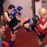 kay and jules girls training muay thai